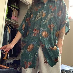 Retro Pineapple Hawaiian Shirt